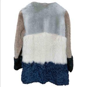 UTERQÜE Patchwork lambskin coat